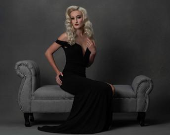 Meg Klinger black macys dress look 1 por