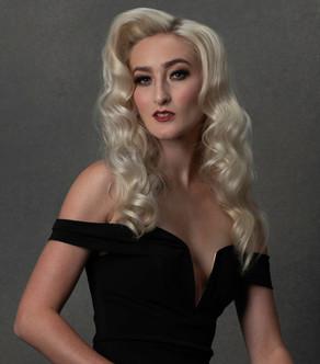 Meg Klinger black macys dress look 2 por
