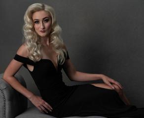 Meg Klinger black macys dress look 5 por