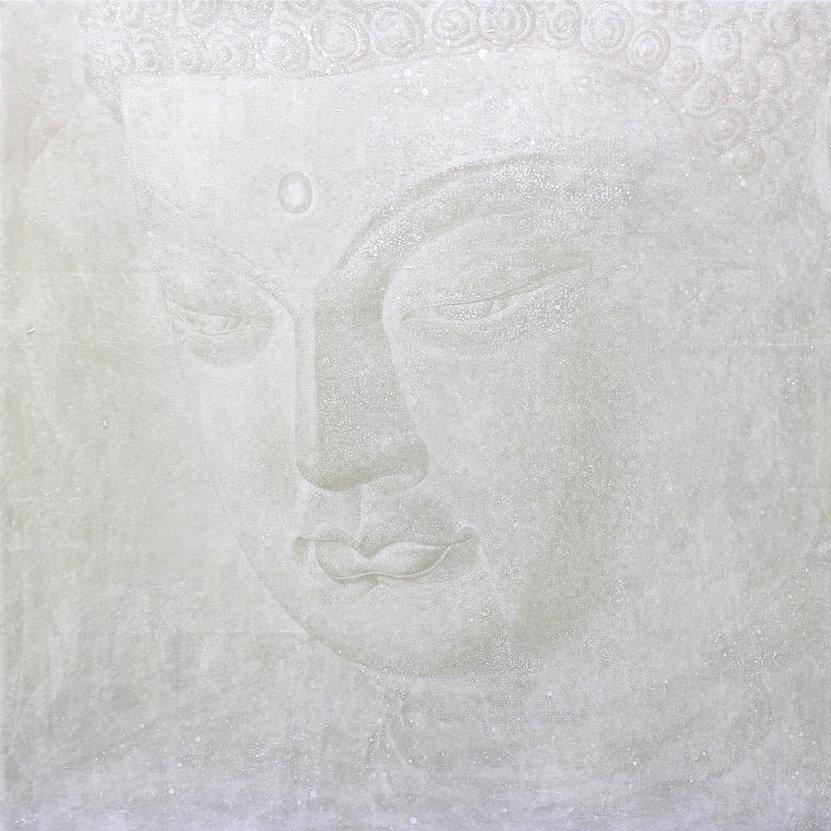 ZEN(禪) - 백법(白法) 장지에 은분, 호분 185×185cm 201