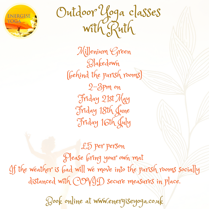 May June July outdoor yoga dates correct