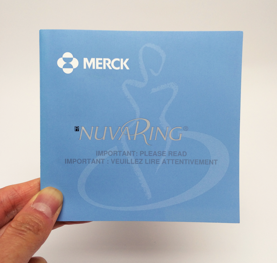 NuvaRing Instructions (Front)