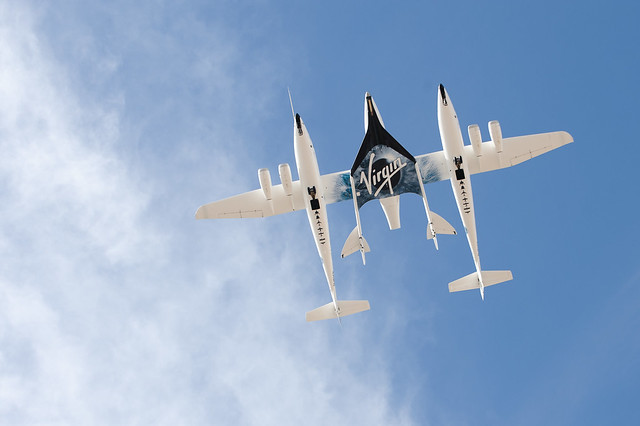 SpaceShipTwo attached to WhiteKnightTwo