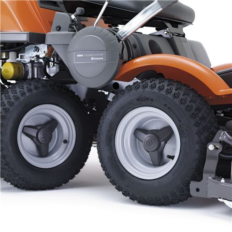 Four Large Wheels