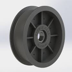 Large Flat Plastic Pulley