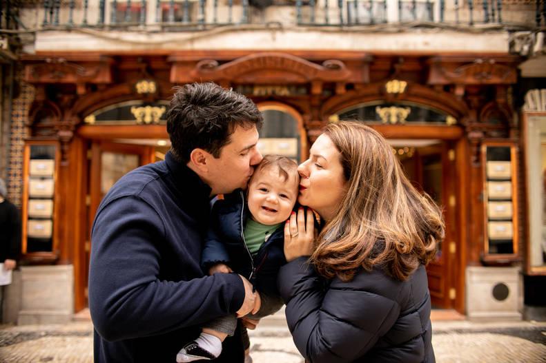 Familia em Lisboa