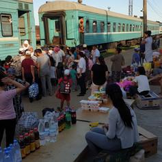 Kazakhstan, Beynau Railway Station