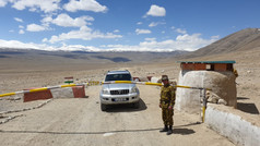 Checkpoint, Tajikistan, Pamir Highway