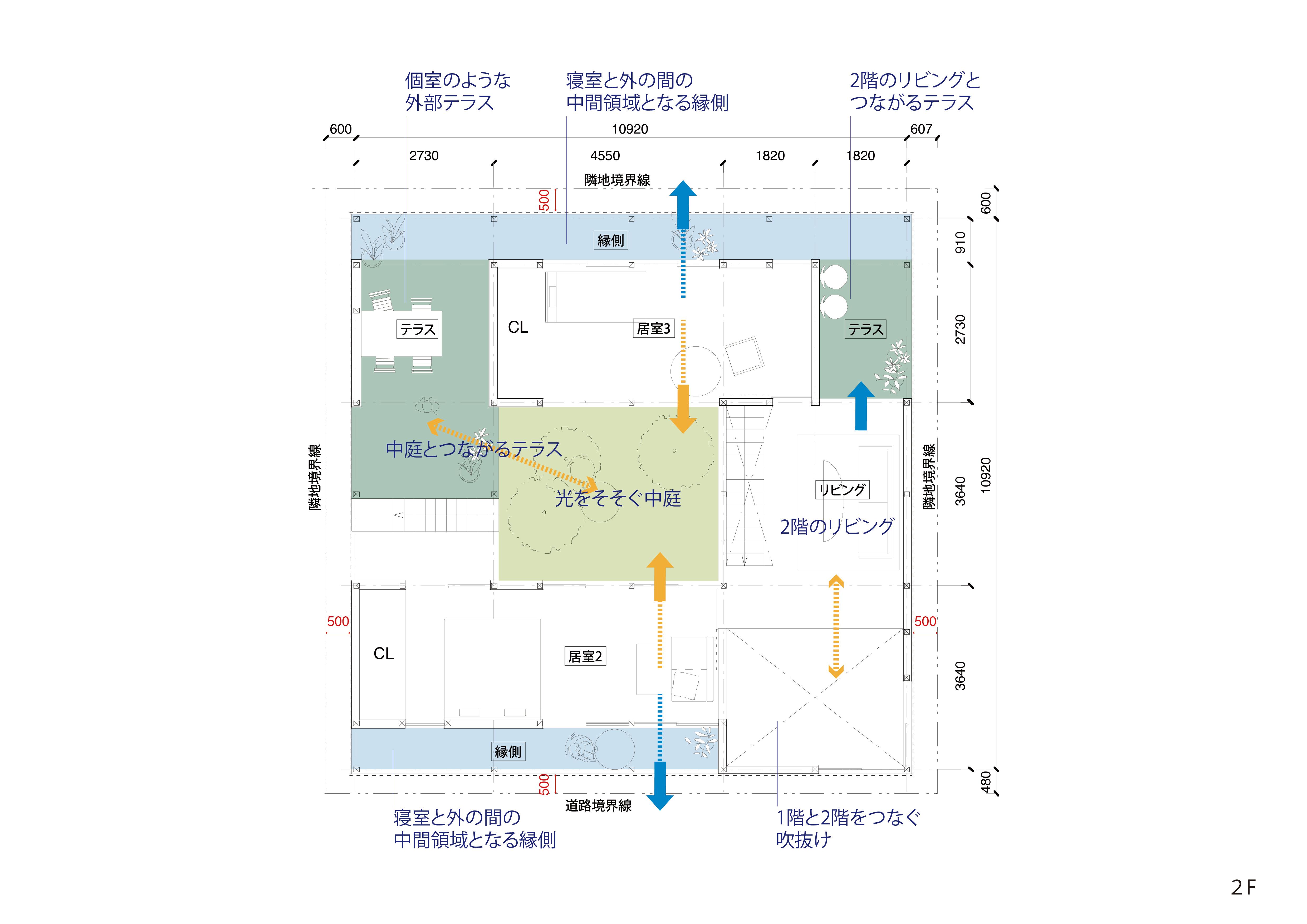 平面図−2F