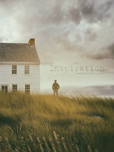 Rustic cottage with man standing by the