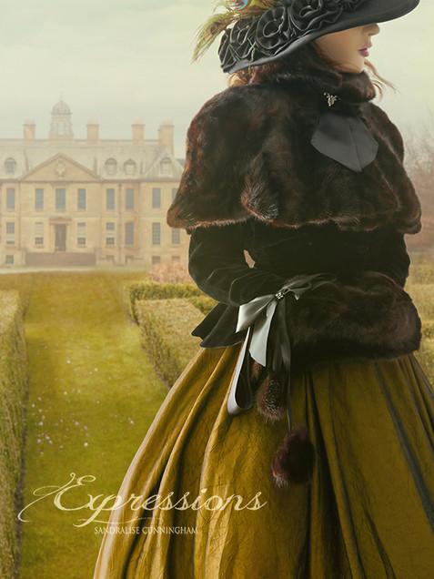 Victorian woman walking in gardens best2