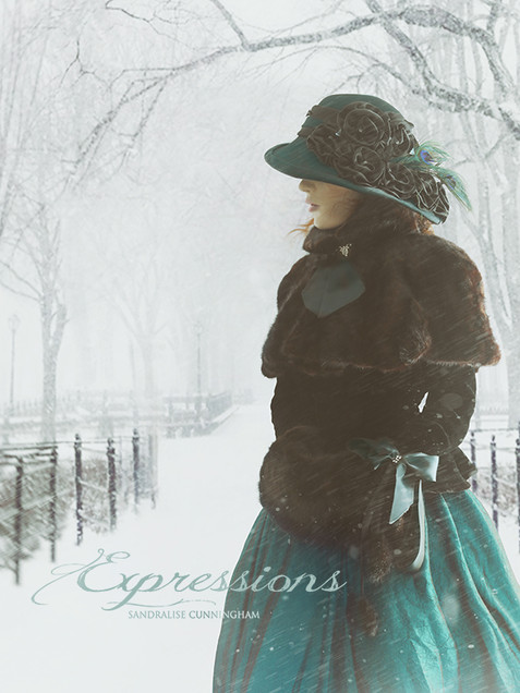 Woman dressed in period winter clothing