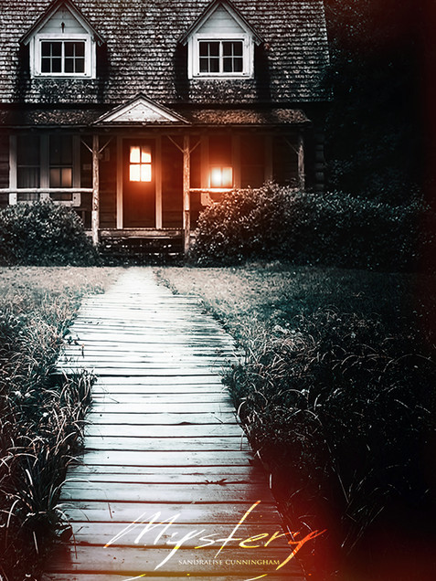 Closeup of cottage in the dark woods bes