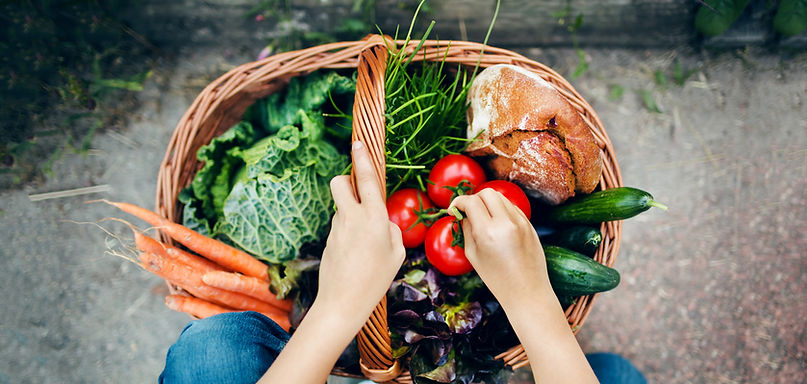 Food baske, huron county farmes' market