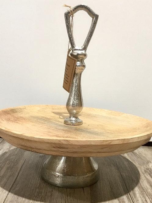 Etagére aus Holz und Aluminium