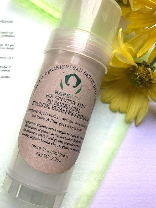 VEGAN Organic Natural Detox Deodorant For Sensitive Skin