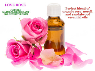 Why is Bare Pits LOVE ROSE organic essential oil proprietary blend the best sensitive skin natural d