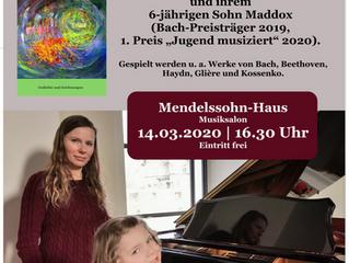 Mendelssohn-Haus Leipzig: In meinem Bauch wächst eine Blume - Lyrik mit Klaviermusik von Bach, Beeth