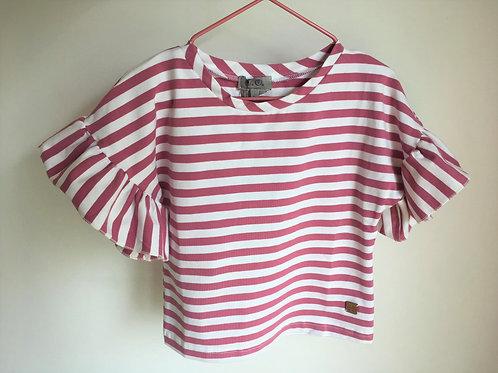 T-shirt Rayas menina