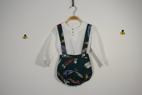 Conjunto camisa e calção Plumas