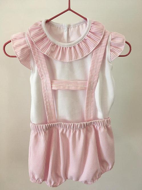 Conjunto algodão doce rosa