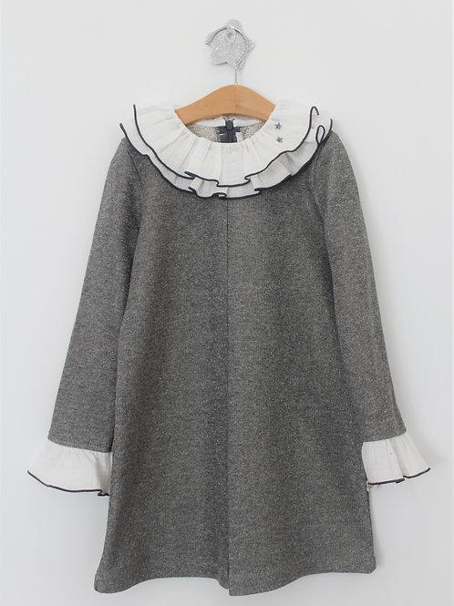Vestido Gliter Cinza
