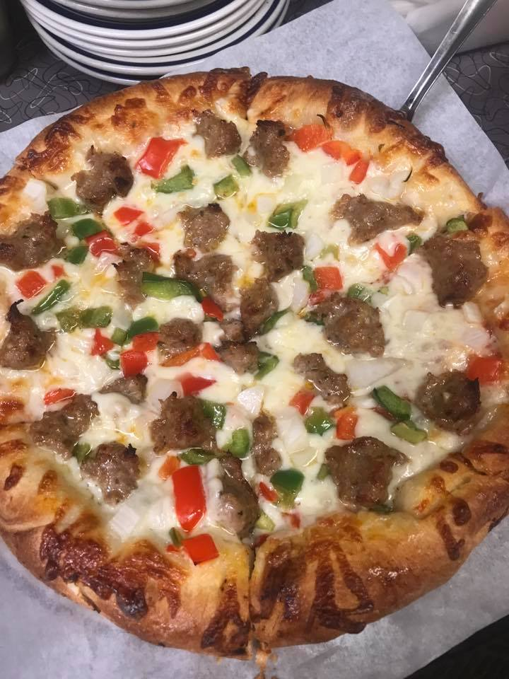 Sausage, Pepper, Onion Pizza