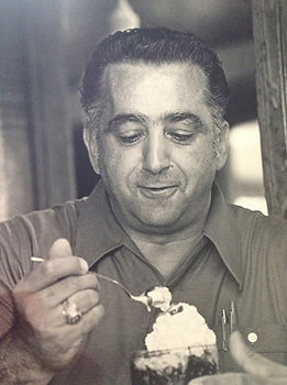David George eating icecream