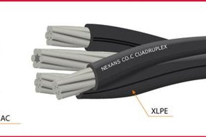 Cable Al Cuadruplex aislado xlpe 3x1/0 1/0 Neutro desnudo ACSR