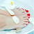 Deluxe Pedicure with Shellac color