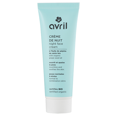 Crème de Nuit pour peaux normales à mixtes, certifié BIO, 50ml