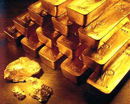 gold bars, refined gold