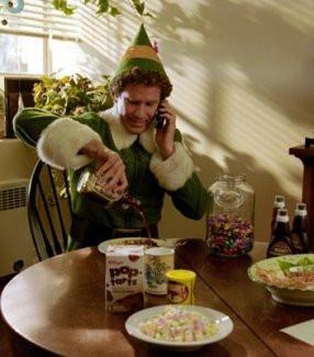 Will Farrell, Elf, child-like man eating breakfast