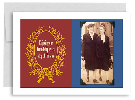 Birthday Card - Enjoying Our Friendship Every Step Of the Way - Item #317