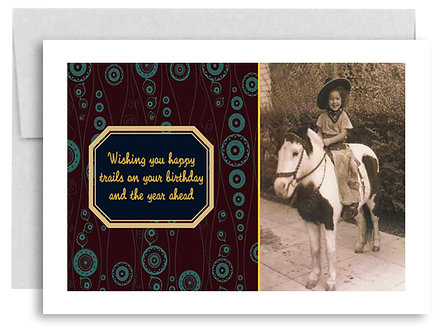 Wishing You Happy Trails On Your Birthday And The Year Ahead - Item #315