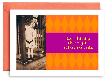 Birthday Card - Just Thinking About You Makes Me Smile - Item #323