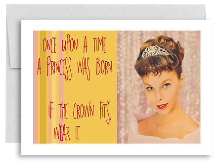 Birthday Card - Once Upon A Time A Princess Was Born - Item #340