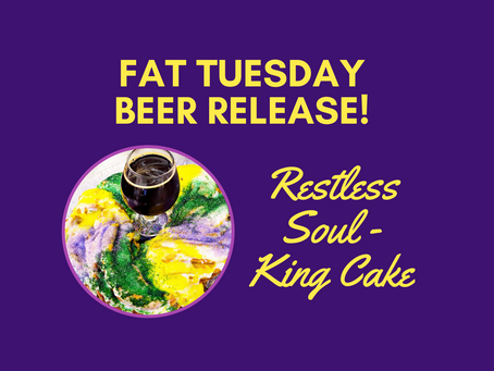 King Cake beer to release Fat Tuesday!