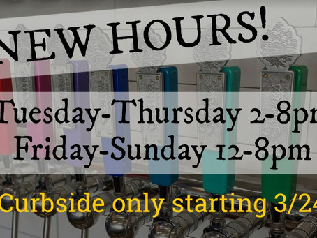 New hours for curbside pickup!