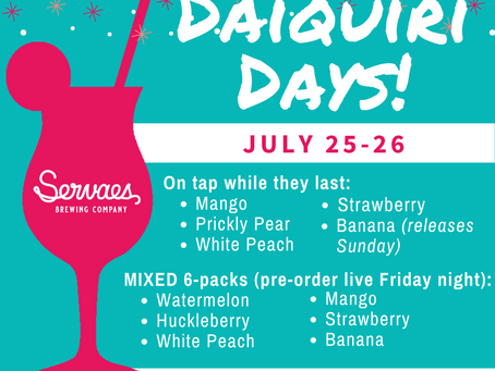 Join us for Daiquiri Days!