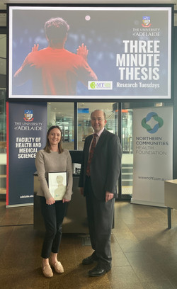 3 Minute Thesis Winner 2020 - Emma Solly