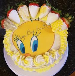 Tweety Bird Cake_edited