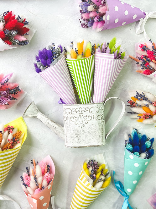 Букетик лаванды с сухоцветами