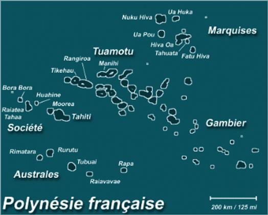 Carte Polynésie Huahine Dream Tours