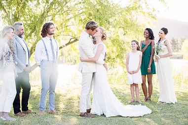 Wedding Bride & Groom Kissing
