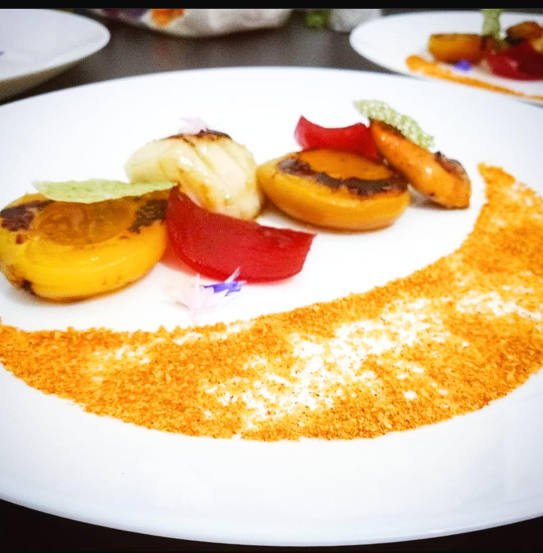 Capasanta - Corallo - Albicocca - Cipolla - Paprika