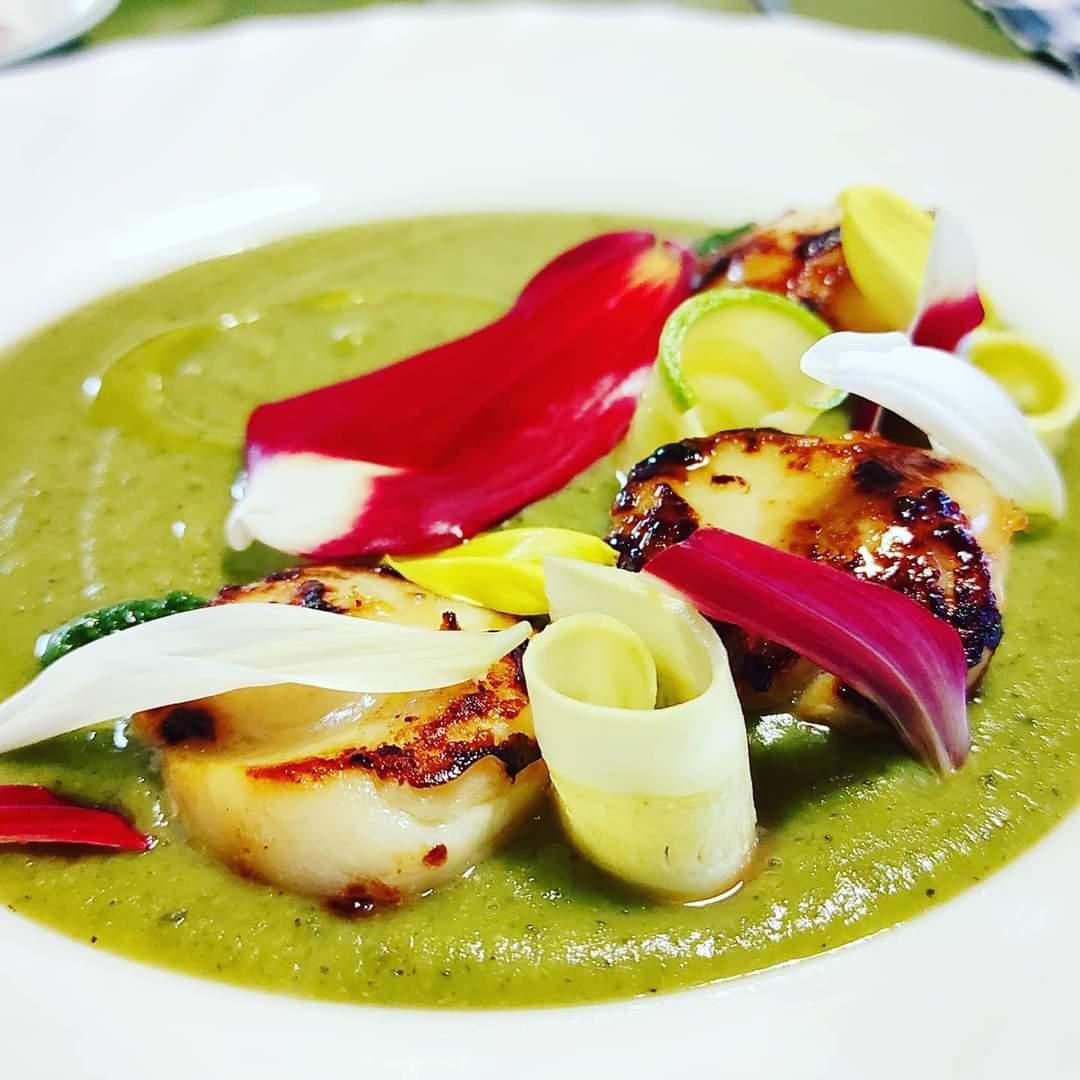 Capasanta - Zucchina - Petali di dalia