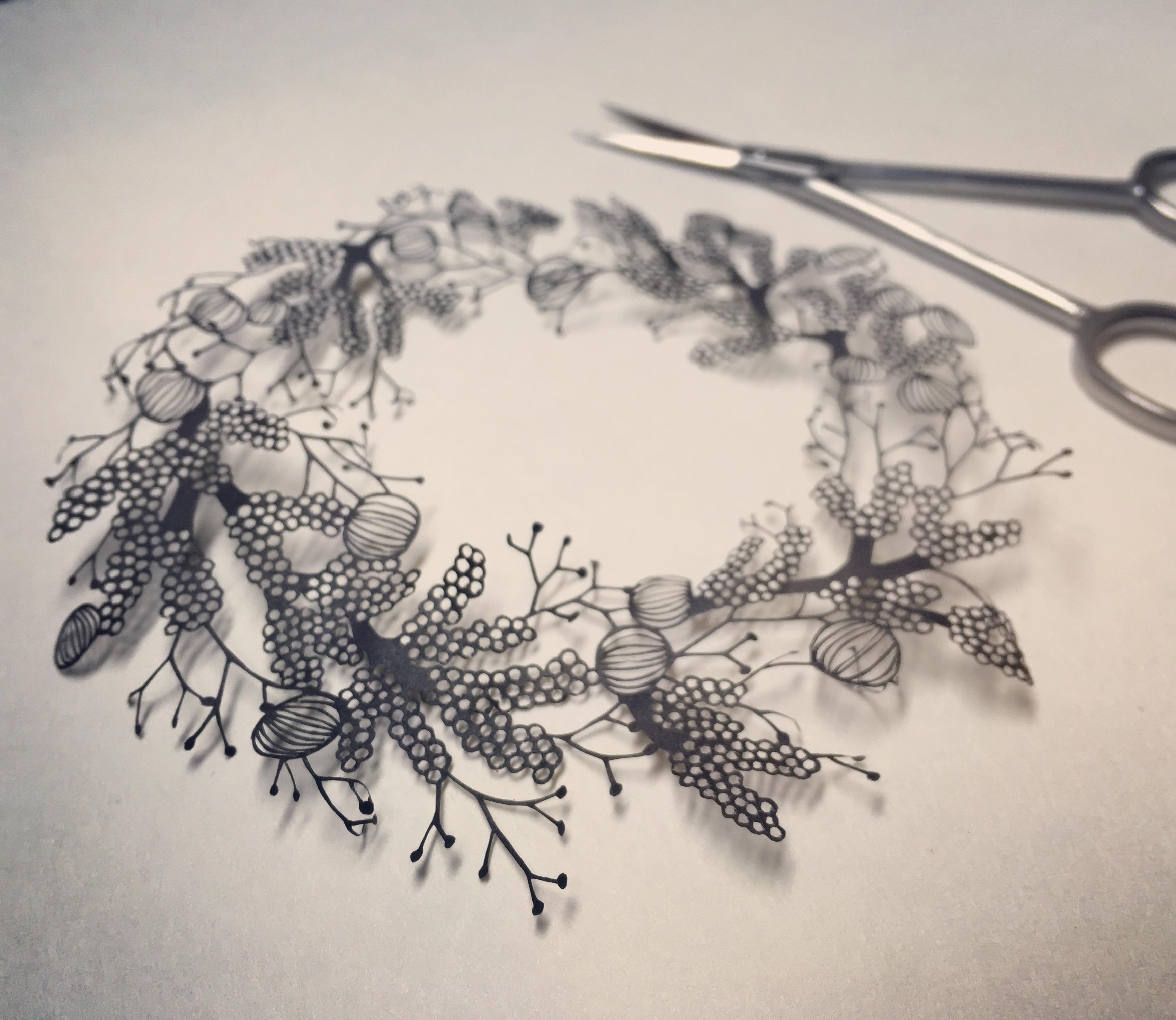 菌の輪飾り