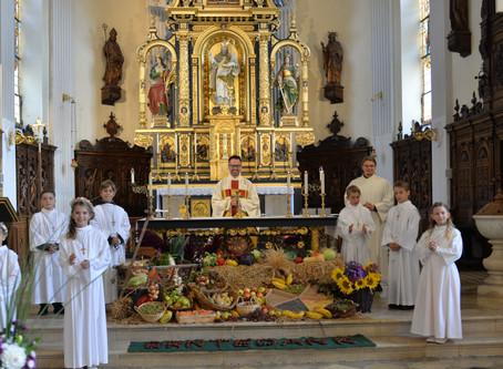 Erstkommunion an Erntedank in Siegenburg