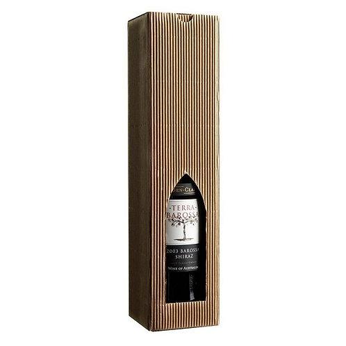 Vinkarton til 1 flaske brun